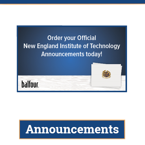link to buy official N E I T graduation announcements through balfour